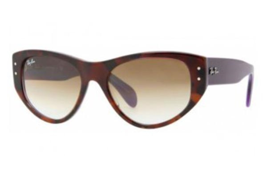 Ray-Ban RB 4152 Vagabond Sunglasses in 106651 Top Havana On Violet Crystal Brown Gradient