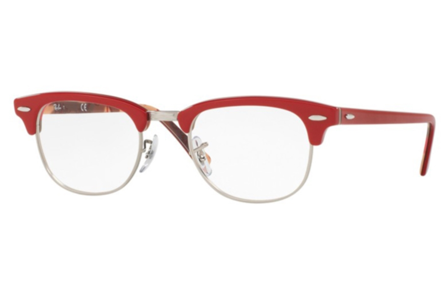 Ray-Ban RX 5154 Clubmaster Eyeglasses in 5651 Red On Texture Camuflage (49 eye size only)