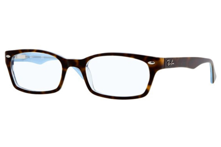 Ray-Ban RX 5150 Eyeglasses in 5023 Top Havana on Transparent Azure (50 eye size only)