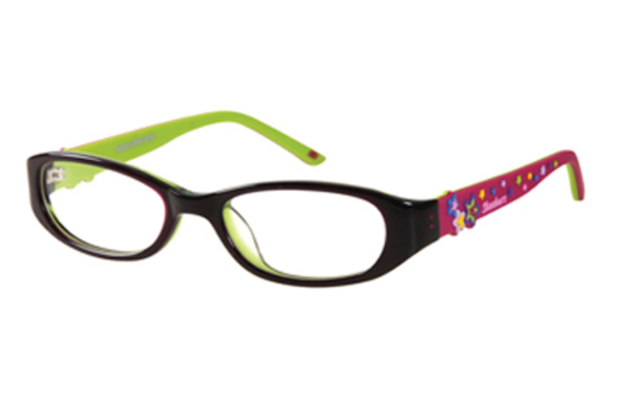 Skechers SK 1508 Eyeglasses in BLKMAG: BLACK/MAGENTA