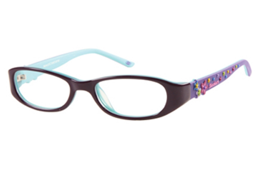 Skechers SK 1508 Eyeglasses in PLTL: PLUM/TEAL