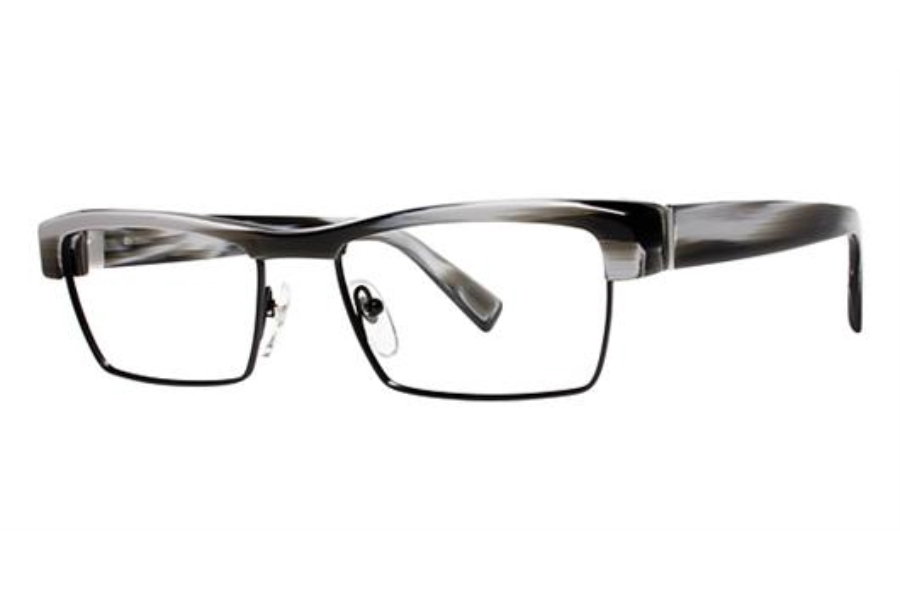 Seraphin by OGI ALBERT Eyeglasses in 8752 Grey Horn/Black