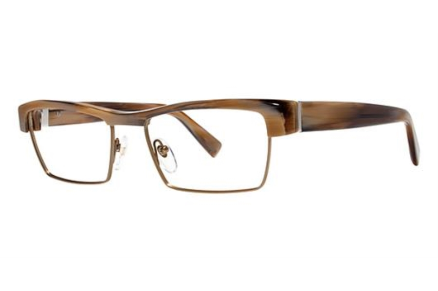 Seraphin by OGI ALBERT Eyeglasses in 8754 Tan Horn/Bronze