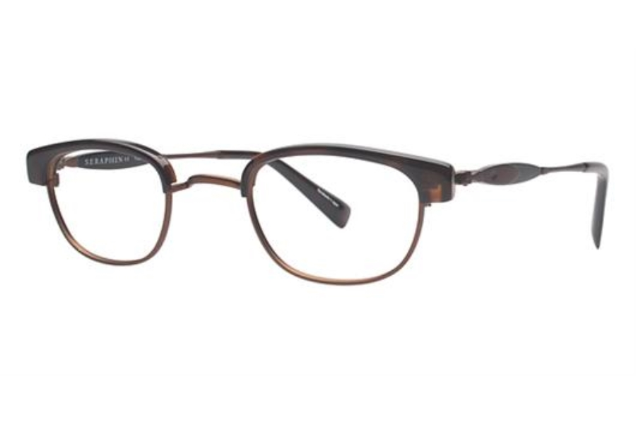 Seraphin by OGI GRIGGS Eyeglasses in 8780 Dark Tortoise/Bronze