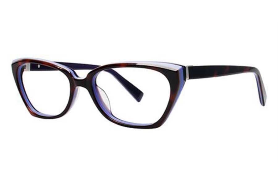 Seraphin by OGI YVONNE Eyeglasses in 8712 Havana w/Purple