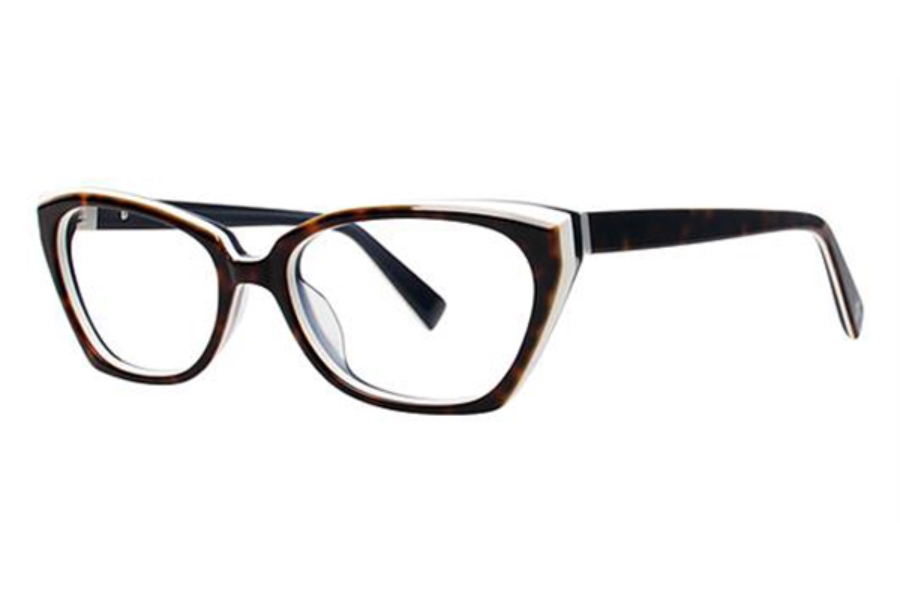Seraphin by OGI YVONNE Eyeglasses in 8713 Havana w/White