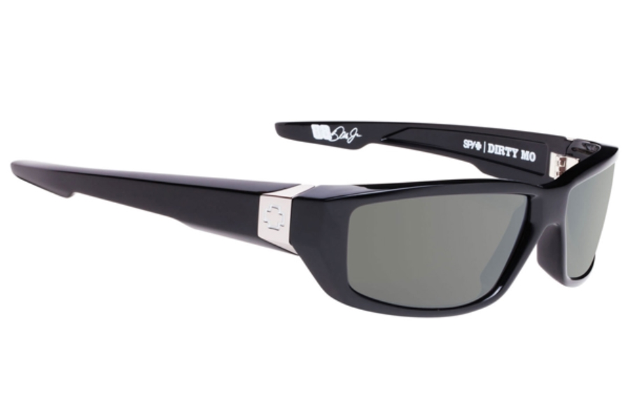 Spy DIRTY MO Sunglasses in Black W/ Happy Grey Green