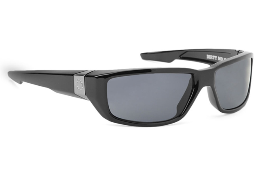 Spy DIRTY MO Sunglasses in Shiny Black w/ Grey Polarized Lens
