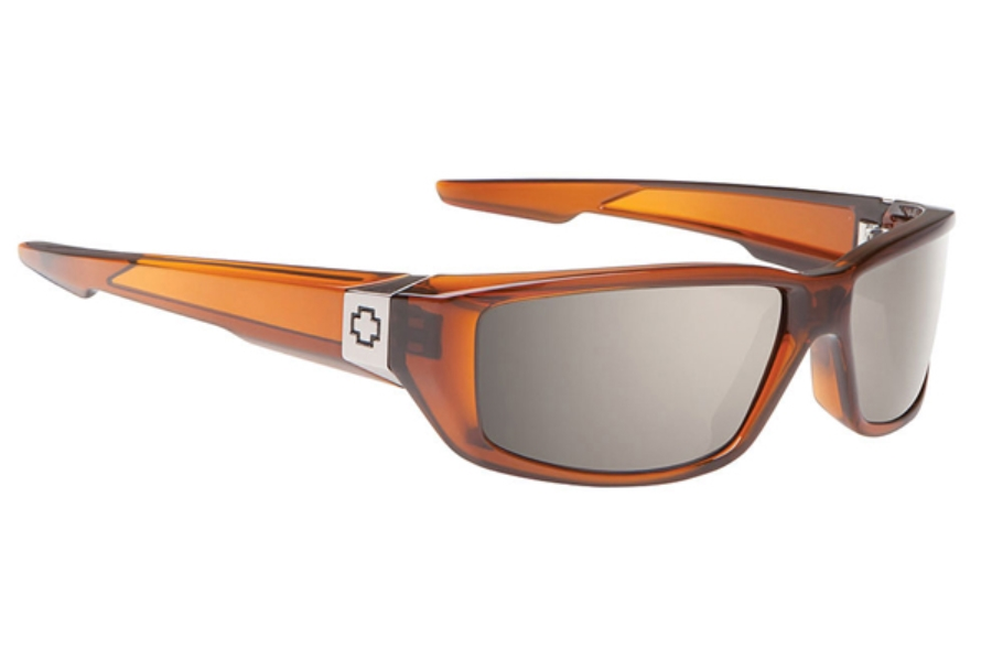 Spy DIRTY MO Sunglasses in Brown Ale - Happy Bronze Polar Black Mirror Lens
