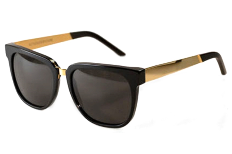 Super People Black/Gold Metal 348 Sunglasses in Super People Black/Gold Metal 348 Sunglasses
