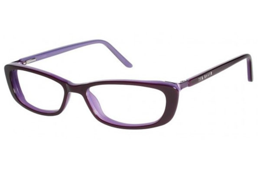 Ted Baker B851 Eyeglasses in Purple Checker