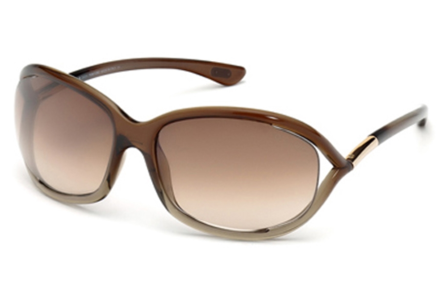 Tom Ford FT0008 Jennifer Sunglasses in 38F Brown Gradient