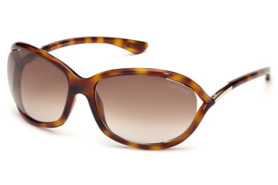 Tom Ford FT0008 Jennifer Sunglasses in 52F - Dark Havana / Gradient Brown