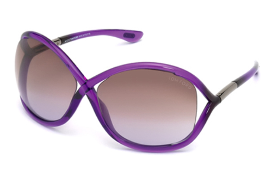 Tom Ford FT0009 Whitney Sunglasses in 78Z Shiny Lilac / Gradient Or Mirror Violet
