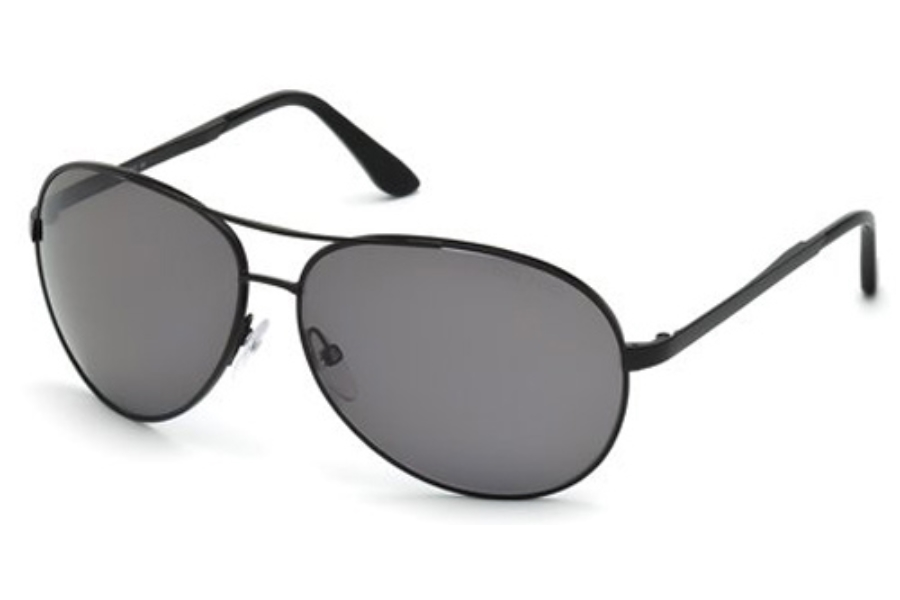 Tom Ford FT0035 Charles Sunglasses in 02D Black Gray