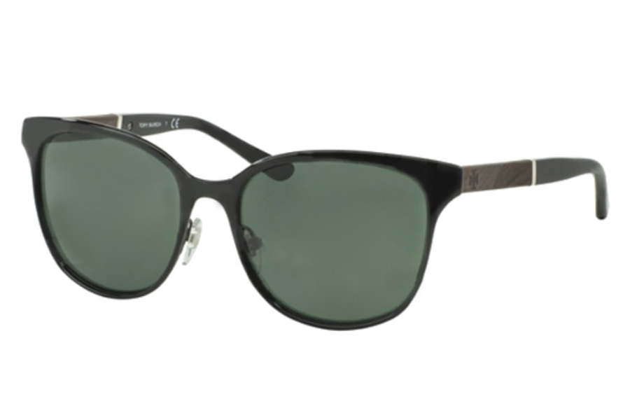 Tory Burch TY6041 Sunglasses in 307971 Black Green Solid