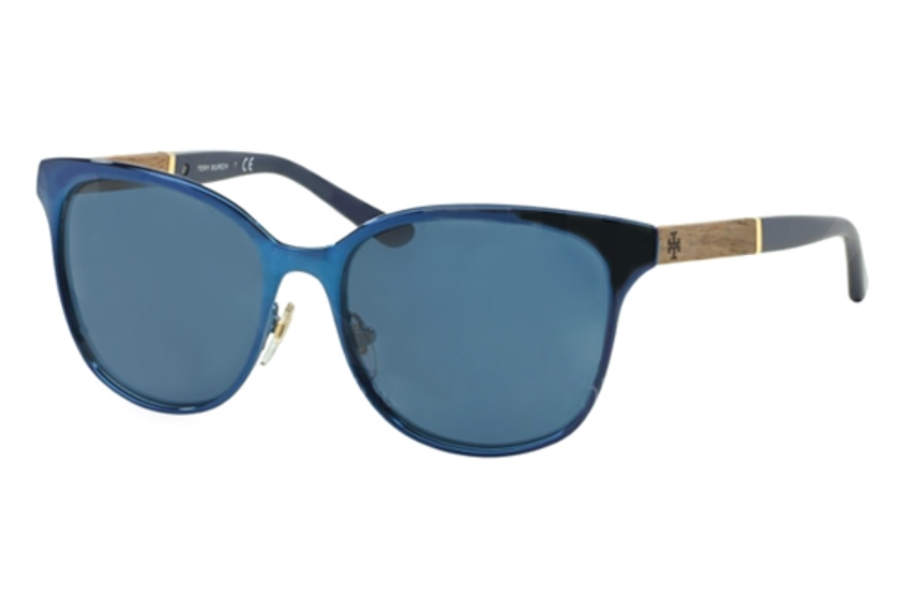 Tory Burch TY6041 Sunglasses in 307880 Navy Blue Solid