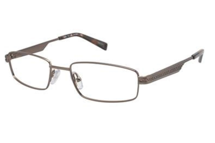 Tura Mens T111 Eyeglasses in Light Brown Tortoise (LBR)