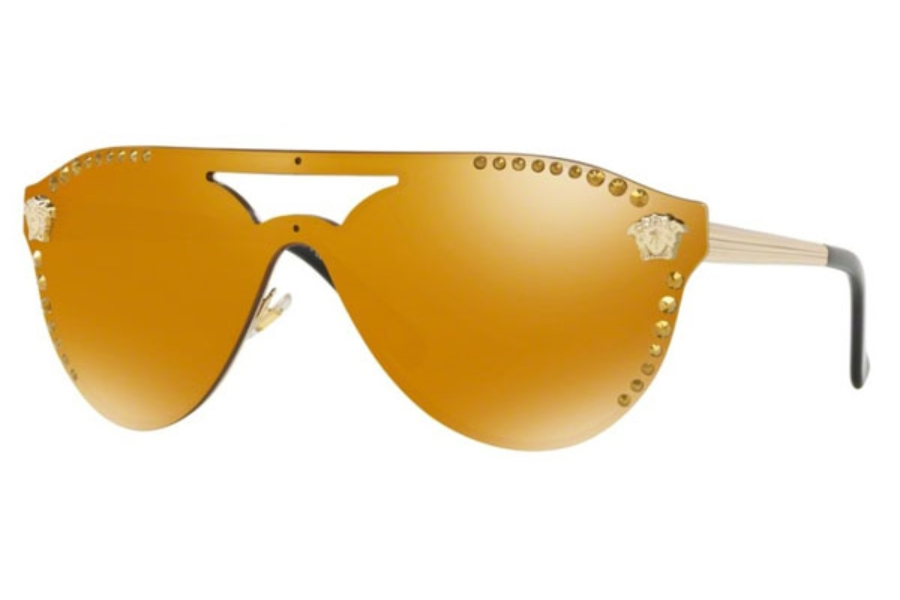 Versace VE 2161B Sunglasses in 12527P Pale Gold / Mirror Gold