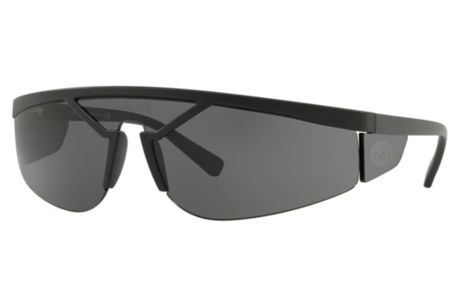 Versace VE 4349 Sunglasses in 507987 Matte Black / Grey