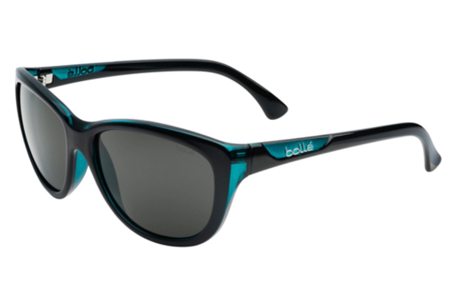Bolle Greta Sunglasses in 11759 Shiny Black / Translucent Blue w/ TNS Lens