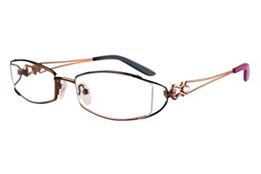 Bulova Twist Titanium Gold Coast Eyeglasses FREE Shipping