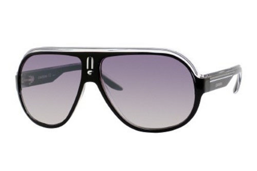 Carrera SPEEDWAY/S Sunglasses in 0KE4 Black Crystal Silver (IC gray mirror shaded silver lens)