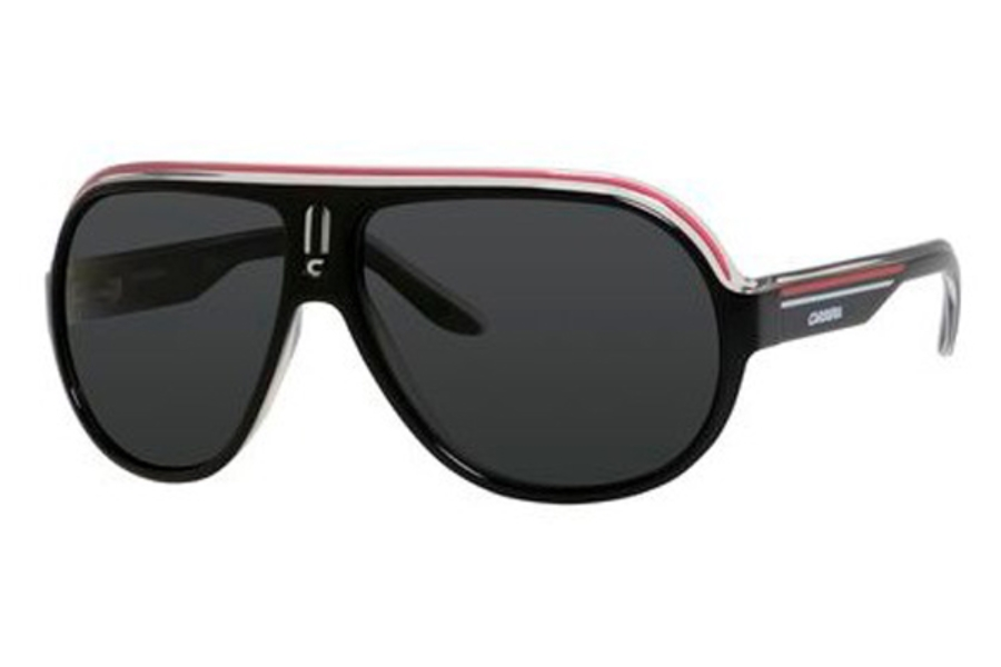 Carrera SPEEDWAY/S Sunglasses in 0YZZ Black Crystal White Red (RA gray polarized lens)