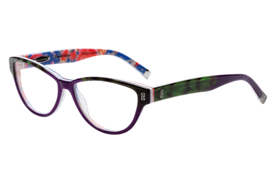 Coco Song Turning Turtles Eyeglasses in C3 Purple / Black / Green