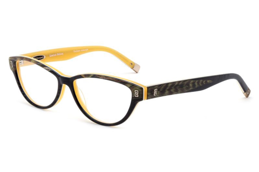 Coco Song Turning Turtles Eyeglasses in C4 Black / Yellow