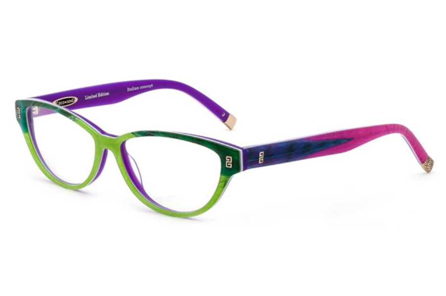 Coco Song Turning Turtles Eyeglasses in C5 Green / Purple / Pink