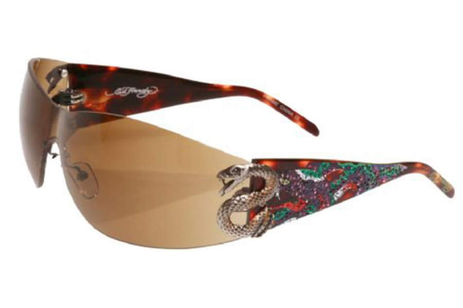 Ed Hardy EHS 005 Snake 2 Sunglasses in Tortoise / Brown (TOR)