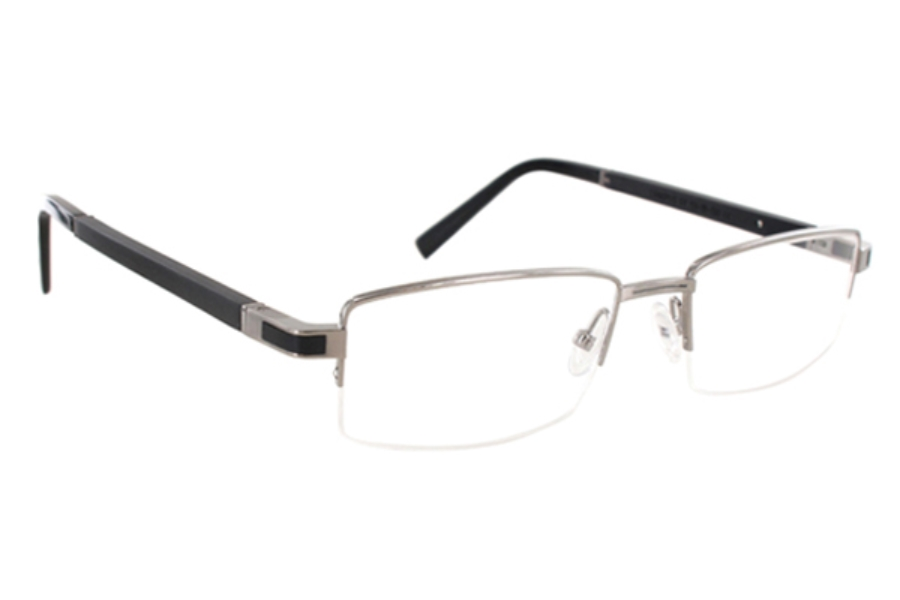 Gold & Wood Canopus Eyeglasses in 03 Brushed Dark Ruthenium - Ebony