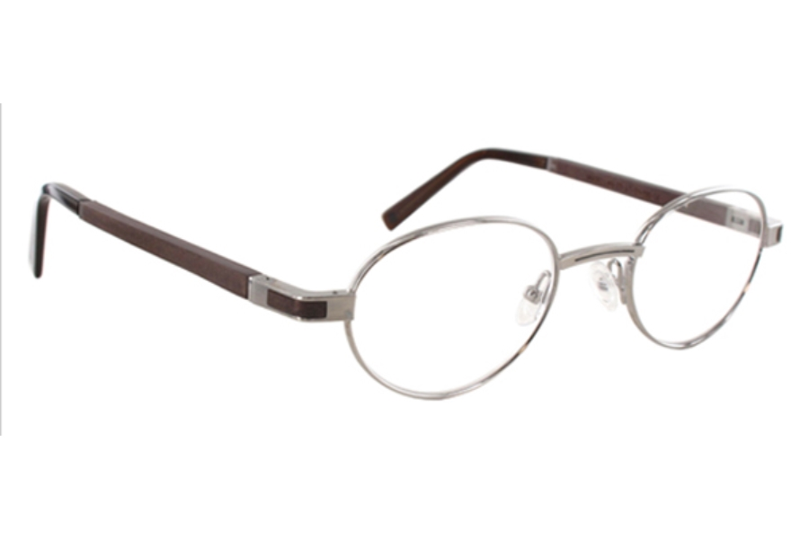 Gold & Wood Magellan Eyeglasses in 03 Dark Brushed Ruthenium - Tanganika