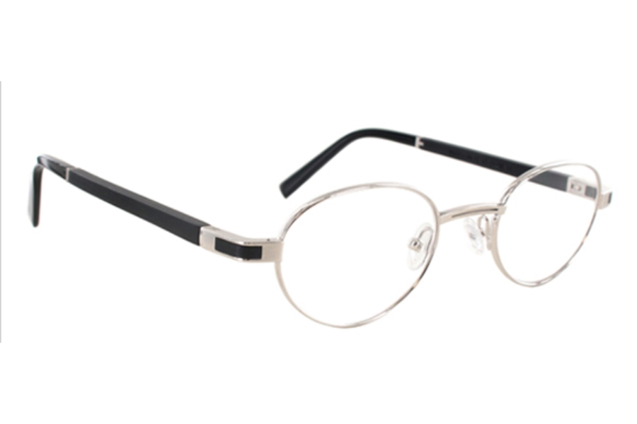 Gold & Wood Magellan Eyeglasses in 02 Brushed Palladium - Ebony