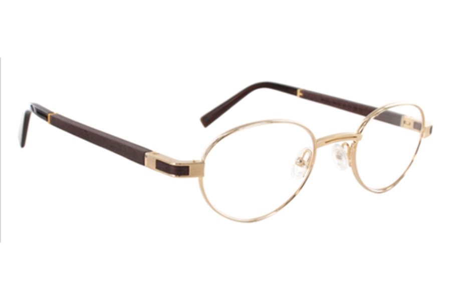 Gold & Wood Magellan Eyeglasses in Gold & Wood Magellan Eyeglasses