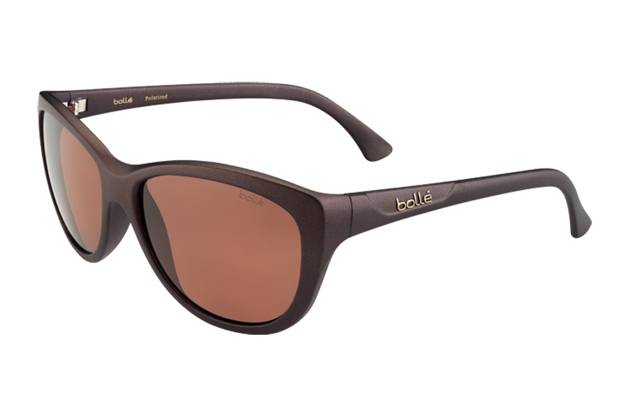 Bolle Greta Sunglasses in 12105 Matte Chocolate TLS Dark Lens