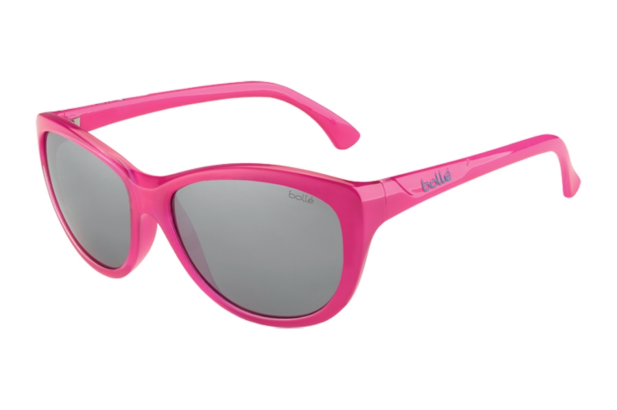 Bolle Greta Sunglasses in 12104 Shiny Pink TNS Guns Lens