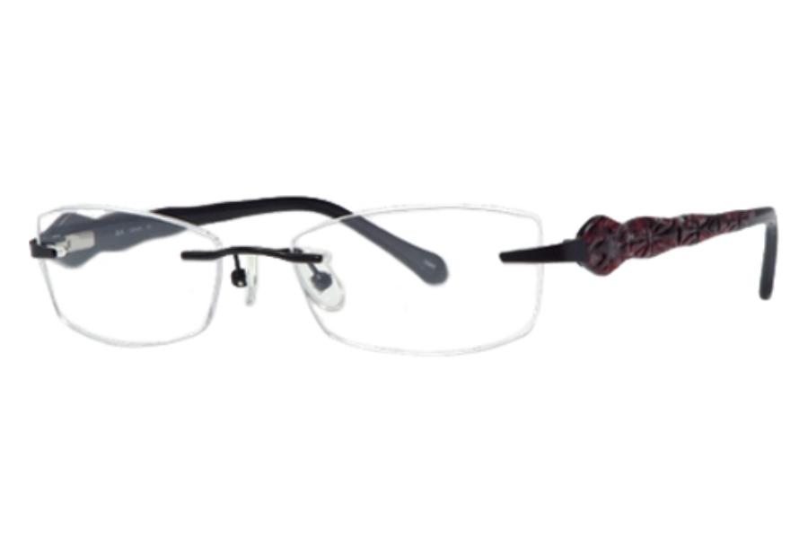 5f6ab50eac5b8 Helium-Paris HE 159 Eyeglasses in BLK Black ...