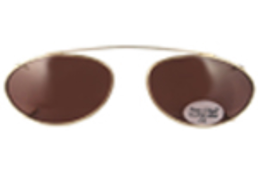 Hilco Traditional Ellipse Sunclip - Gold Sunglasses in 167584000 Gold w/ Driver Lenses (50 Eye)