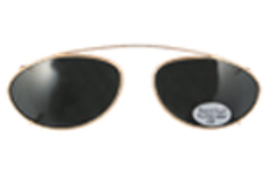 Hilco Traditional Ellipse Sunclip - Gold Sunglasses in 167580000 Gold w/ Gray Lenses (50 Eye)