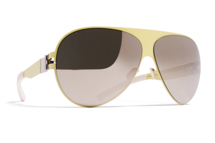 Mykita Franz Sunglasses in F63 Sulfur w/ Superivory Flash Lens