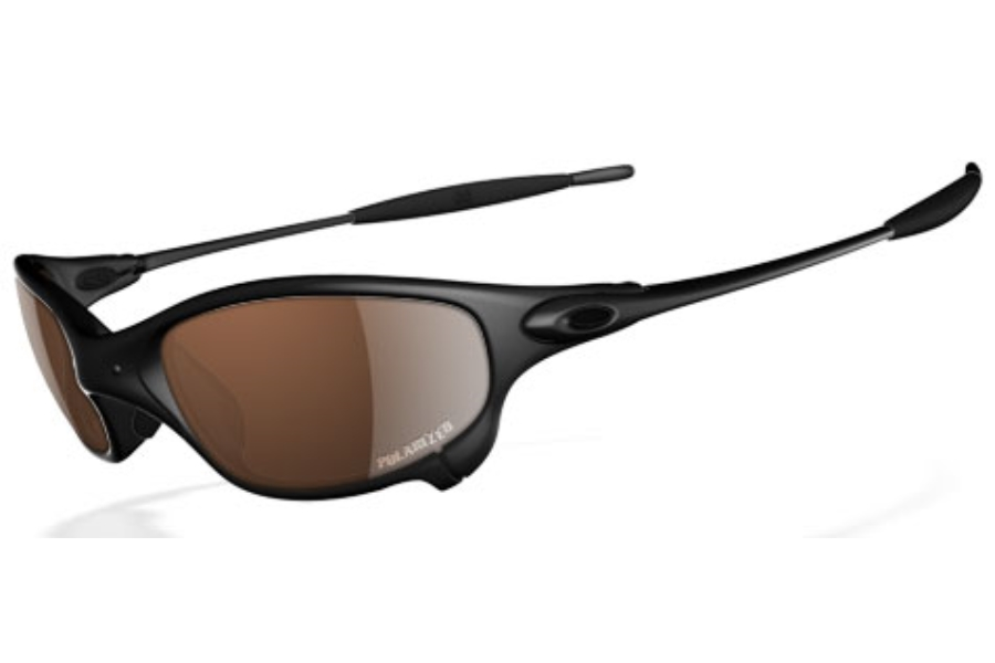 Oakley Juliet Polarized Sunglasses in Carbon VR28 Black Iridium Polarized