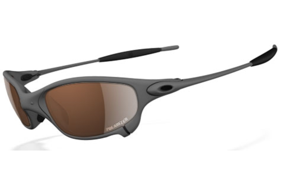 Oakley Juliet Polarized Sunglasses in XMetal VR28 Black Iridium Polarized