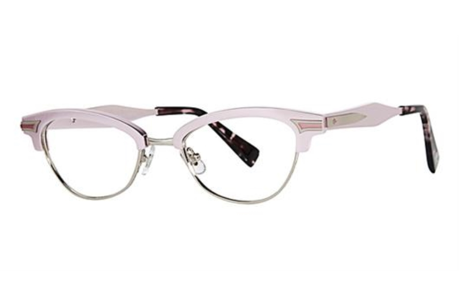 Seraphin by OGI GRAND Eyeglasses in 8587 - Rose Silver/Matte Silver/Gray Demi