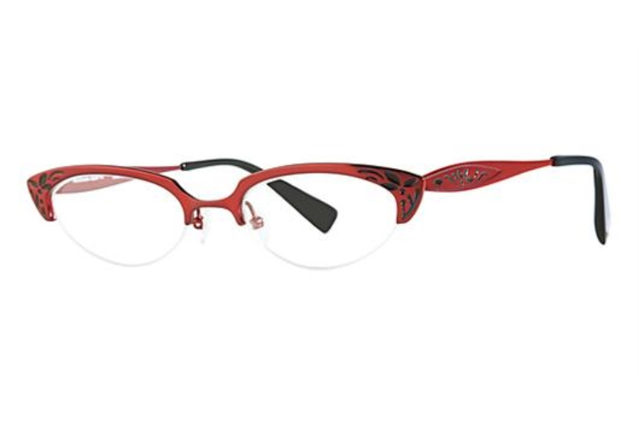 Seraphin by OGI HARRIET Eyeglasses in 8618 BURGUNDY W/BLACK