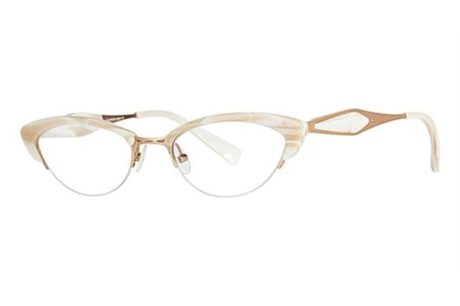 Seraphin by OGI MARQUETTE Eyeglasses in 8594 - Creamy White Pearl/Satin Gold