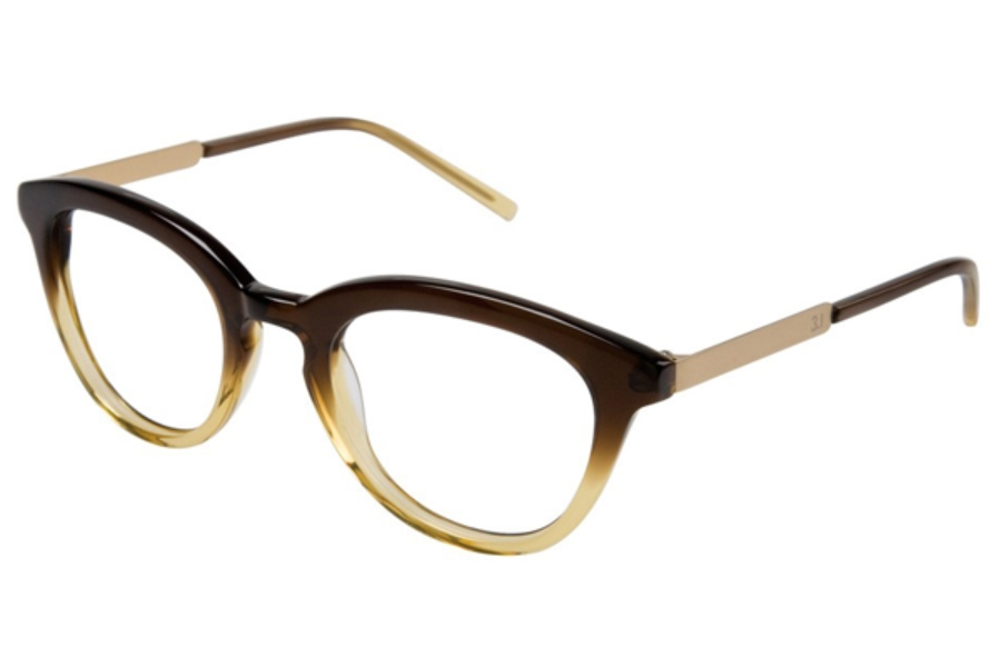 3.1 Phillip Lim Parker Eyeglasses in Gradient Brown