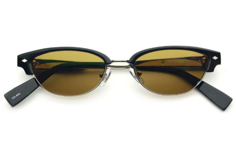 Seraphin by OGI Knox (Sun) Sunglasses in 8553 - Black/Shiny Silver