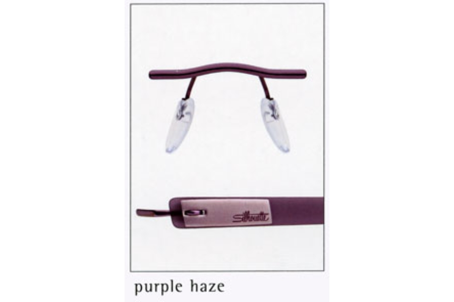 Silhouette 7607 (7608 Chassis) Eyeglasses in 6056 Purple Haze